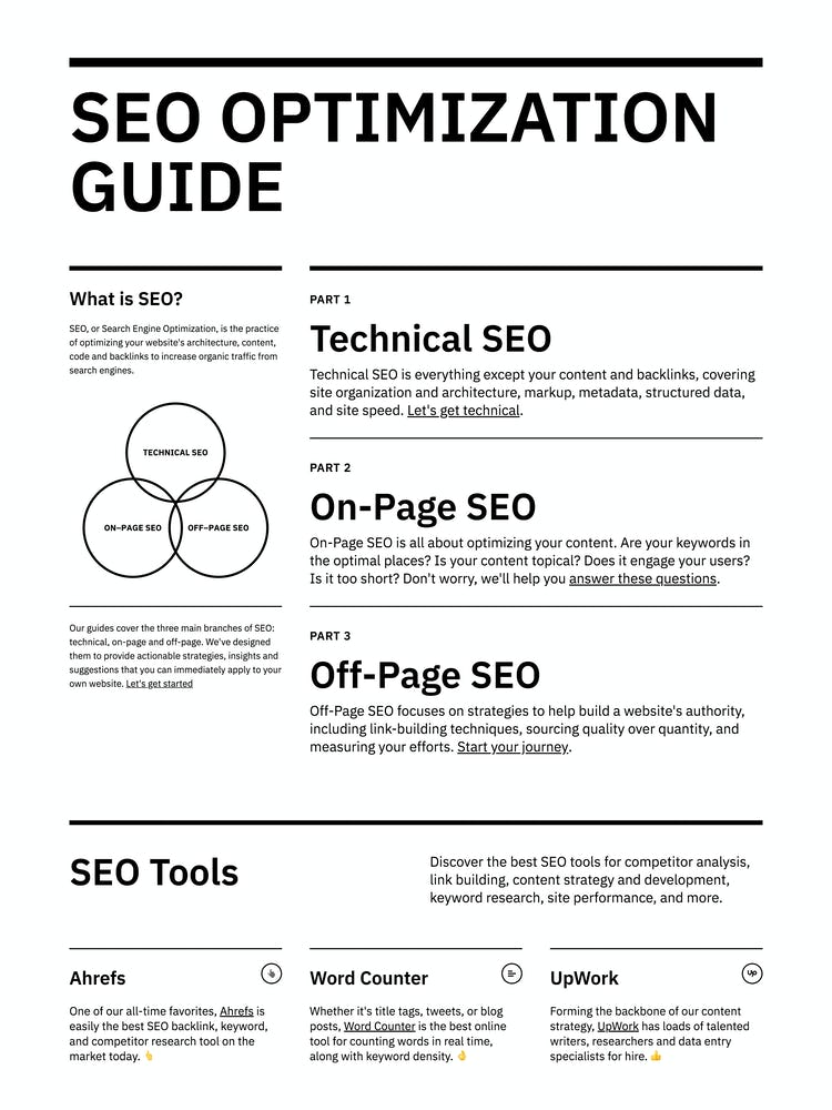 SEO Optimization Guide